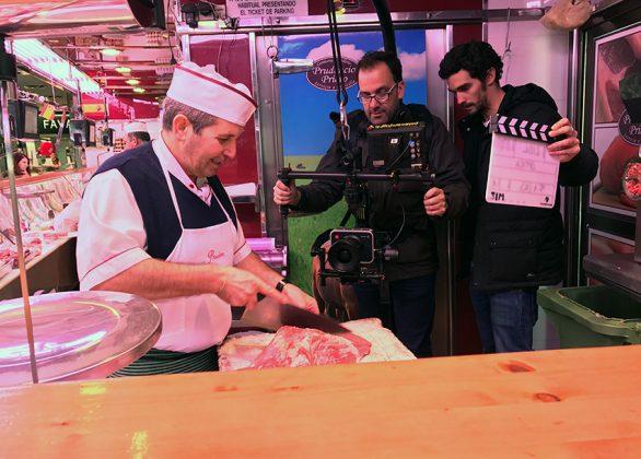 Grabación Carnicería Mercado Municipal de Tetuán para Video Lídl y Ayto. Madrid