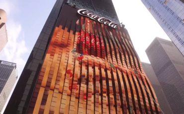 Primer cartel 3D en Times Square